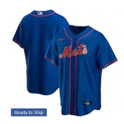 Men New York Mets Nike Blue Blank Jersey