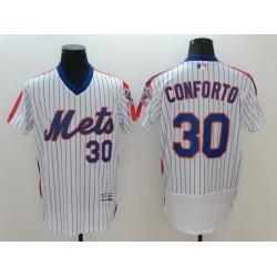 Men Nike New York Mets Michael Conforto 30 White Flex Base Home Stitched Baseball Jersey