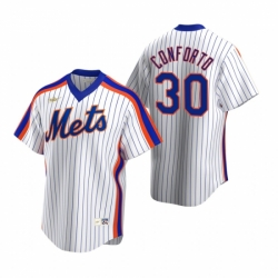 Mens Nike New York Mets 30 Michael Conforto White Cooperstown Collection Home Stitched Baseball Jerse