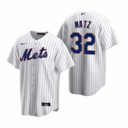 Mens Nike New York Mets 32 Steven Matz White 2020 Home Stitched Baseball Jerse