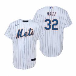 Mens Nike New York Mets 32 Steven Matz White Home Stitched Baseball Jerse