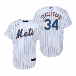 Mens Nike New York Mets 34 Noah Syndergaard White Home Stitched Baseball Jerse
