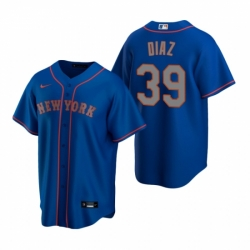 Mens Nike New York Mets 39 Edwin Diaz Royal Alternate Road Stitched Baseball Jersey
