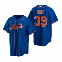 Mens Nike New York Mets 39 Edwin Diaz Royal Alternate Stitched Baseball Jersey