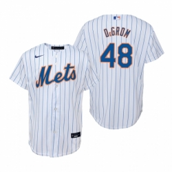 Mens Nike New York Mets 48 Jacob deGrom White Home Stitched Baseball Jerse