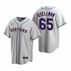 Mens Nike New York Mets 65 Robert Gsellman Gray Road Stitched Baseball Jersey