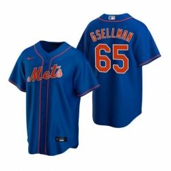Mens Nike New York Mets 65 Robert Gsellman Royal Alternate Stitched Baseball Jersey