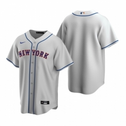 Mens Nike New York Mets Blank Gray Road Stitched Baseball Jersey