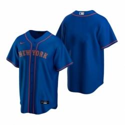 Mens Nike New York Mets Blank Royal Alternate Road Stitched Baseball Jersey