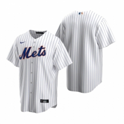 Mens Nike New York Mets Blank White 2020 Home Stitched Baseball Jersey