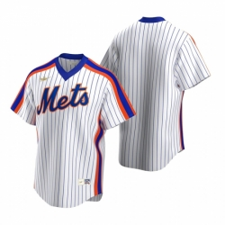 Mens Nike New York Mets Blank White Cooperstown Collection Home Stitched Baseball Jersey