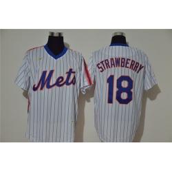 Mets 18 Darryl Strawberry White 2020 Nike Cool Base Jersey