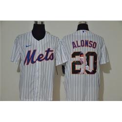 Mets 20 Pete Alonso White Nike Cool Base Player Jersey