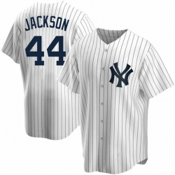 Men New York Yankees 44 Reggie Jackson Replica White Nike MLB Jersey