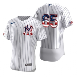 Men New York Yankees 65 James Paxton Men Nike White Fluttering USA Flag Limited Edition Flex Base MLB Jersey
