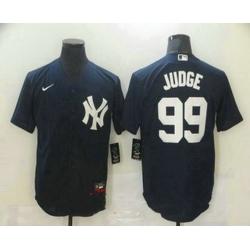 Men New York Yankees 99 Aaron Judge Navy Blue Stitched MLB Nike Cool Base Jersey