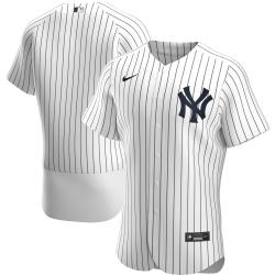 Men New York Yankees Men Nike White Home 2020 Flex Base Official Team MLB Jersey