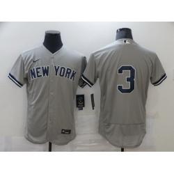 Men Nike New York Yankees 3 Babe Ruth Gray MLB Jersey