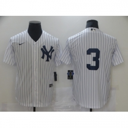 Men Nike New York Yankees Babe Ruth 3 White Road Flex Base Authentic Collection Jersey