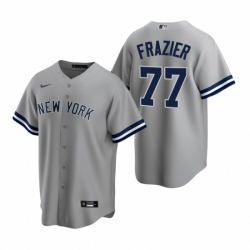 Mens Nike New York Yankees 77 Clint Frazier Gray Road Stitched Baseball Jersey