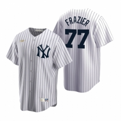 Mens Nike New York Yankees 77 Clint Frazier White Cooperstown Collection Home Stitched Baseball Jersey