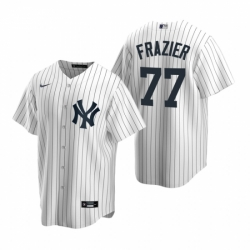 Mens Nike New York Yankees 77 Clint Frazier White Home Stitched Baseball Jersey