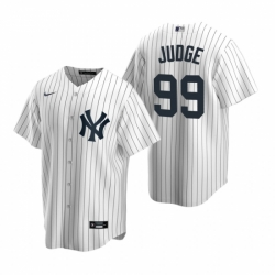 Mens Nike New York Yankees 99 Aaron Judge White Home Stitched Baseball Jerse