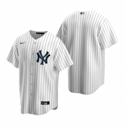 Mens Nike New York Yankees Blank White Home Stitched Baseball Jersey