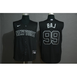 Yankees 99 Aaron Judge Black Nike Cool Base Sleeveless Jersey