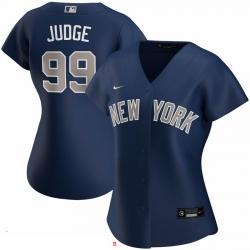 New York Yankees 99 Aaron Judge Nike Women Alternate 2020 MLB Player Jersey Navy