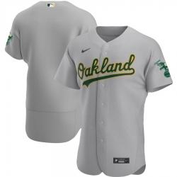 Men Oakland Athletics Men Nike Gray Road 2020 Flex Base Official Team MLB Jersey