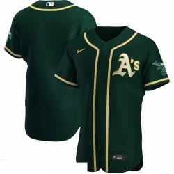 Men Oakland Athletics Men Nike Green Alternate 2020 Flex Base Team MLB Jersey