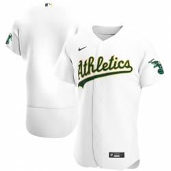 Men Oakland Athletics Men Nike White Home 2020 Flex Base Official Team MLB Jersey