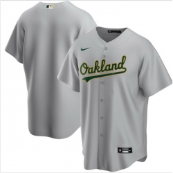 Men Oakland Athletics Nike Gray Blank Jersey