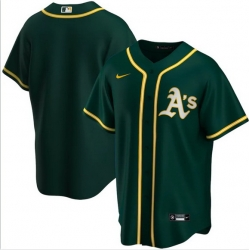 Men Oakland Athletics Nike Green Blank Jersey