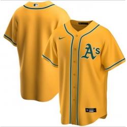 Men Oakland Athletics Nike Yellow Blank Jersey