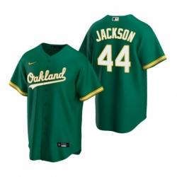 Mens Nike Oakland Athletics 44 Reggie Jackson Green Alternate Stitched Baseball Jerse