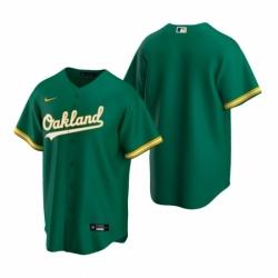 Mens Nike Oakland Athletics Blank Green Alternate Stitched Baseball Jersey