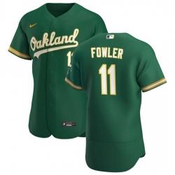 Oakland Athletics 11 Dustin Fowler Men Nike Kelly Green Alternate 2020 Authentic Player MLB Jersey