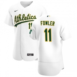 Oakland Athletics 11 Dustin Fowler Men Nike White Home 2020 Authentic Player MLB Jersey