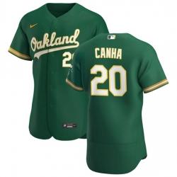 Oakland Athletics 20 Mark Canha Men Nike Kelly Green Alternate 2020 Authentic Player MLB Jersey