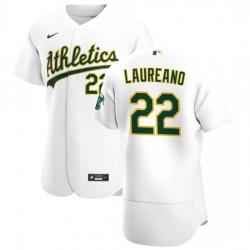 Oakland Athletics 22 Ramon Laureano Men Nike White Home 2020 Authentic Player MLB Jersey