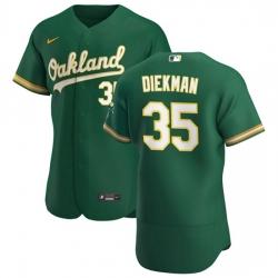 Oakland Athletics 35 Jake Diekman Men Nike Kelly Green Alternate 2020 Authentic Player MLB Jersey
