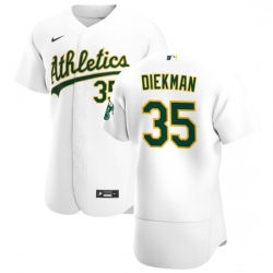 Oakland Athletics 35 Jake Diekman Men Nike White Home 2020 Authentic Player MLB Jersey
