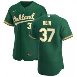 Oakland Athletics 37 Jonah Heim Men Nike Kelly Green Alternate 2020 Authentic Player MLB Jersey