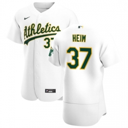 Oakland Athletics 37 Jonah Heim Men Nike White Home 2020 Authentic Player MLB Jersey