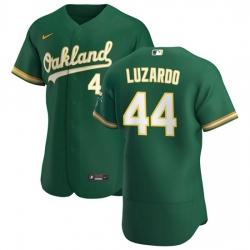 Oakland Athletics 44 Jesus Luzardo Men Nike Kelly Green Alternate 2020 Authentic Player MLB Jersey