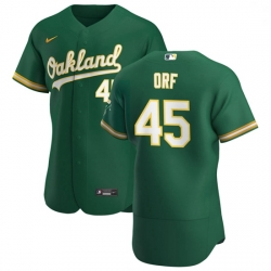 Oakland Athletics 45 Nate Orf Men Nike Kelly Green Alternate 2020 Authentic Player MLB Jersey