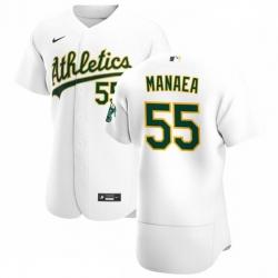 Oakland Athletics 55 Sean Manaea Men Nike White Home 2020 Authentic Player MLB Jersey