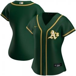 Oakland Athletics Nike Women Alternate 2020 MLB Team Jersey Green